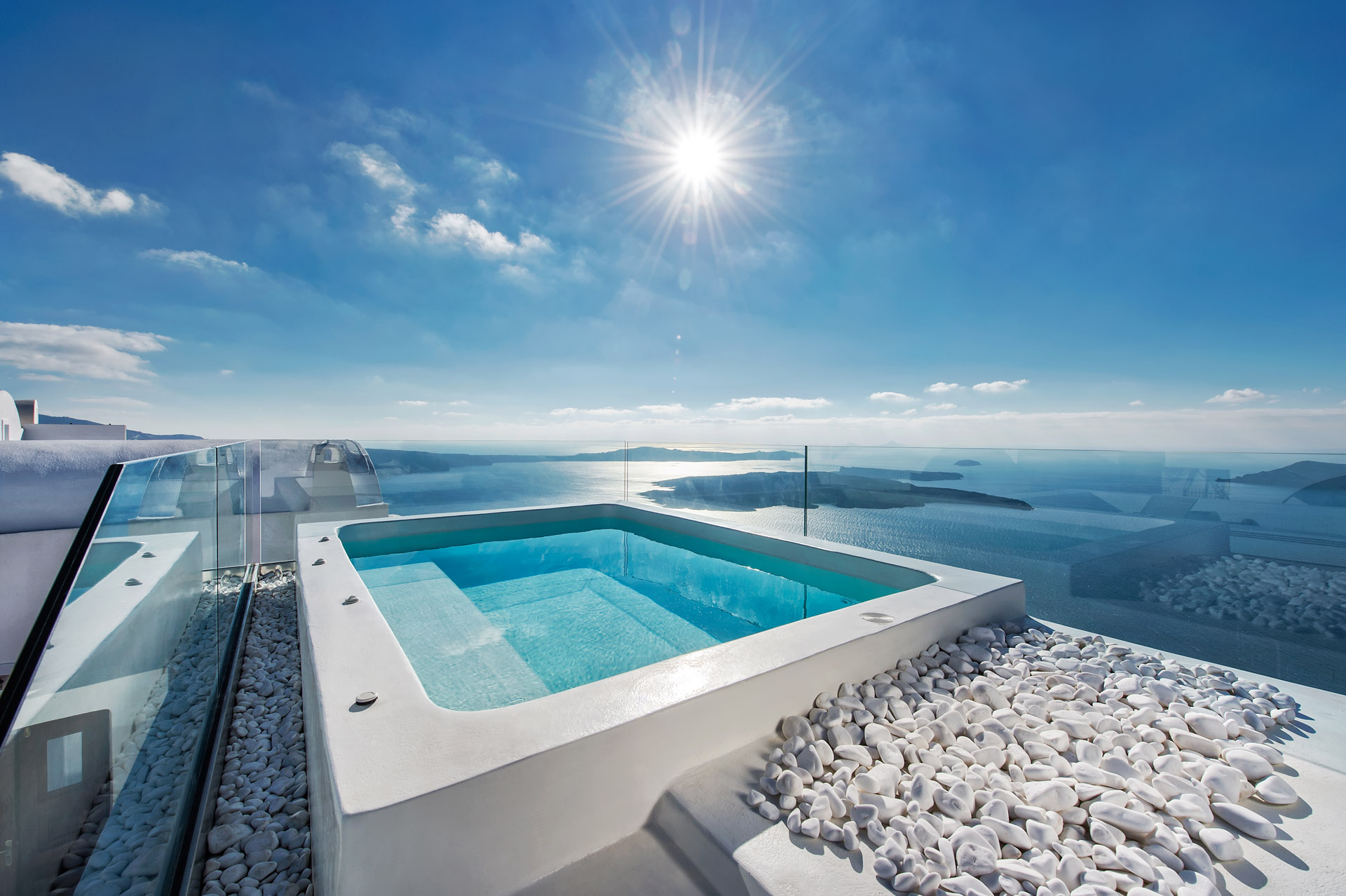 Private Villa Sarah Sadeq Architects Kuwait: Luxury Villas Imerovigli Santorini