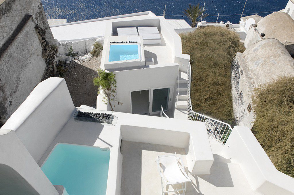 Santorini Villas With Indoor Pool Luxury Villas In Fira