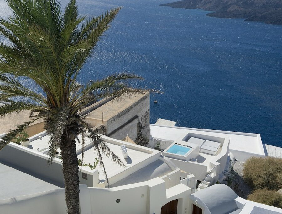 santorini villas indoor pool