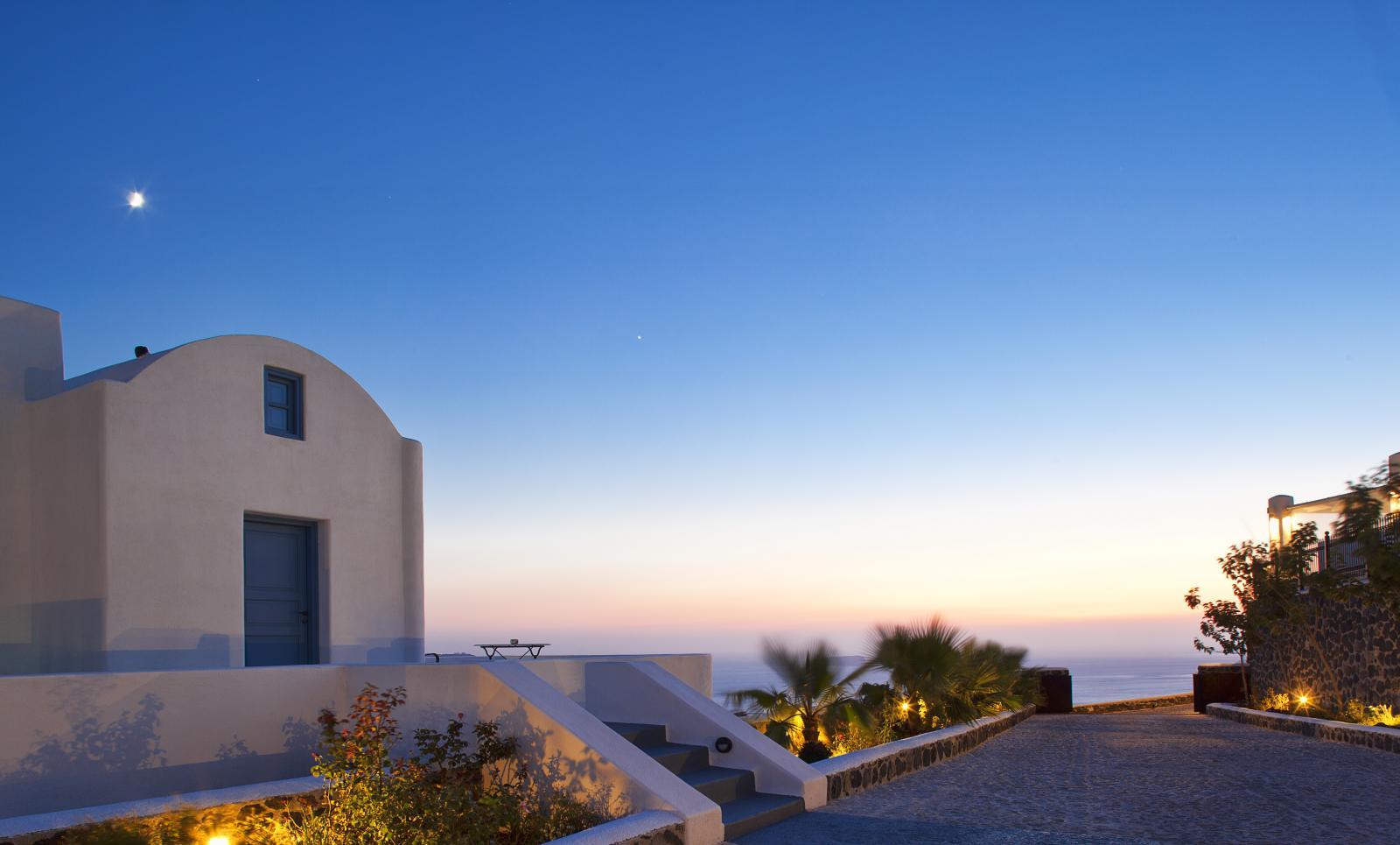 santorini villas caldera view
