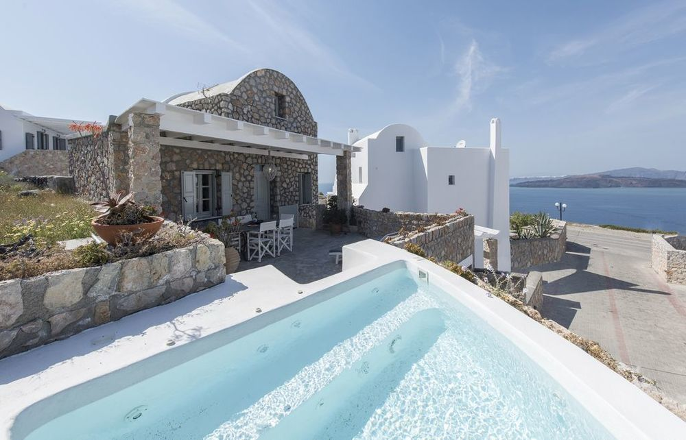 santorini villas caldera view private pool