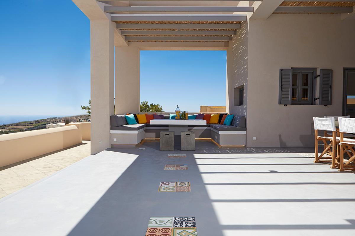 santorini luxury villas private pool