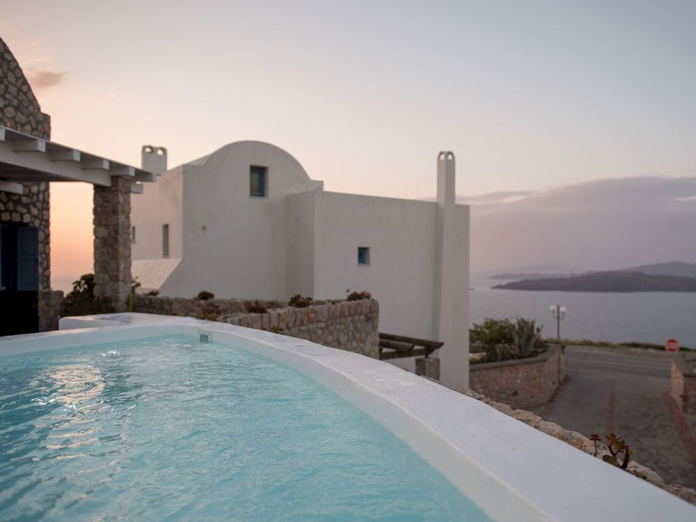 santorini 3 bedroom villas private pool