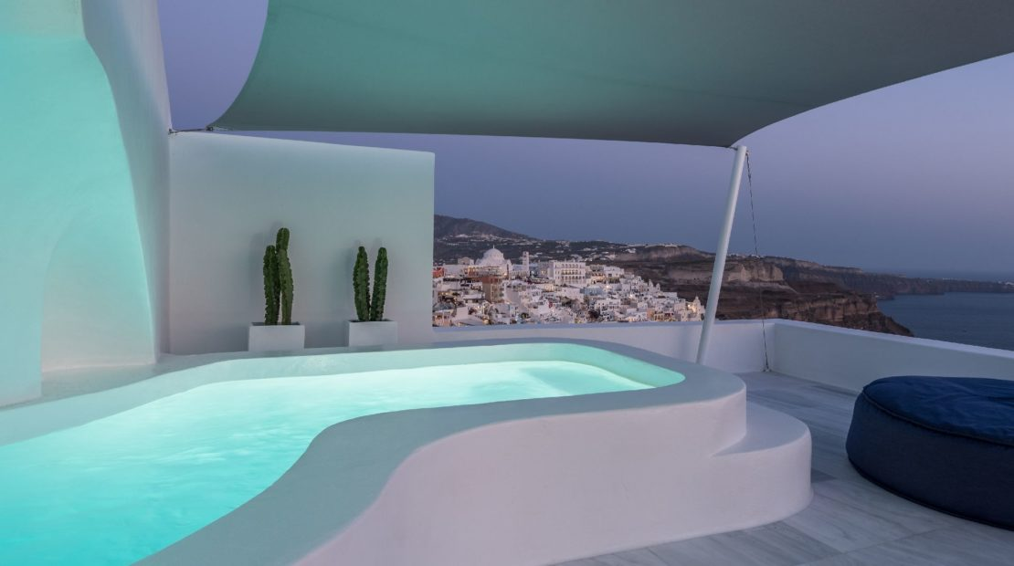 fira villas caldera views