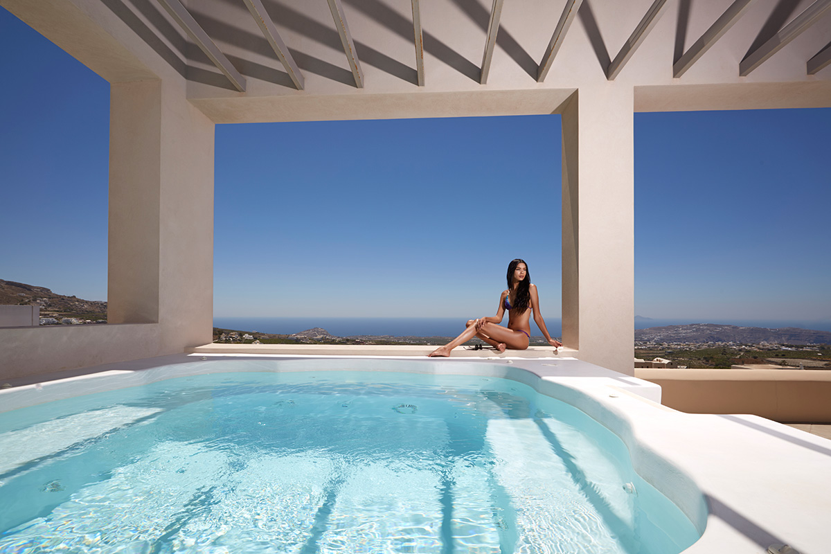 santorini luxury villas private pool