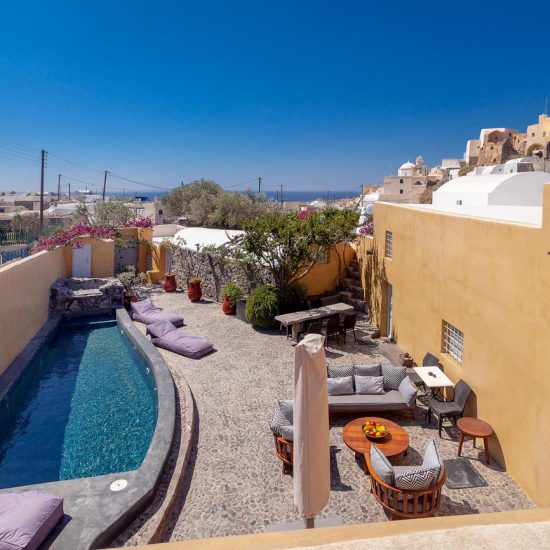 santorini luxury villa rental