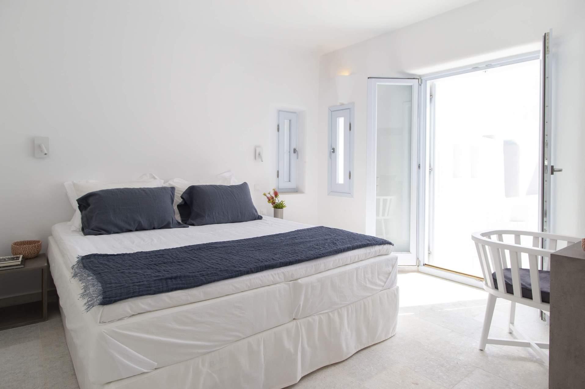 paros villas bedroom