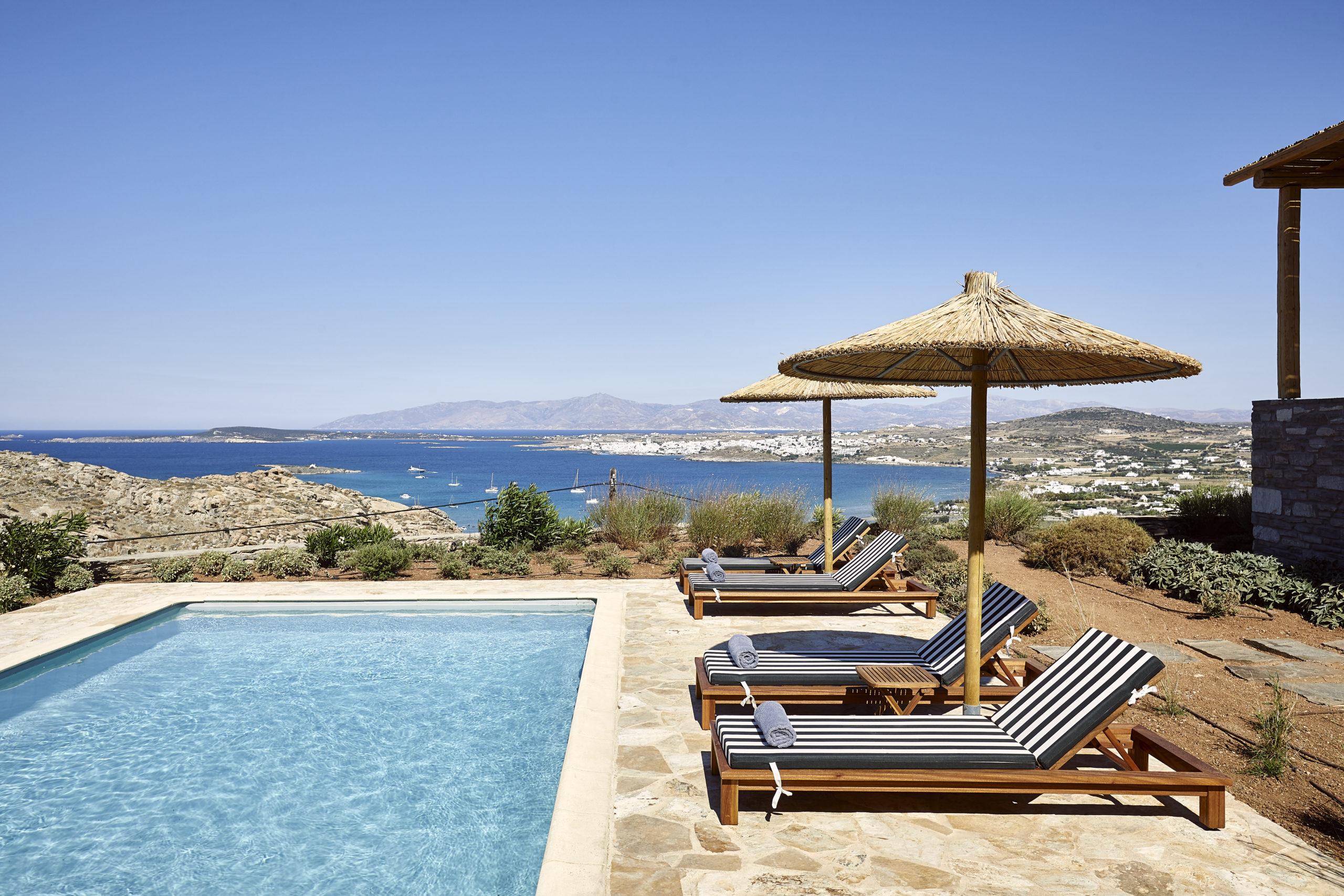 paros villas private pools