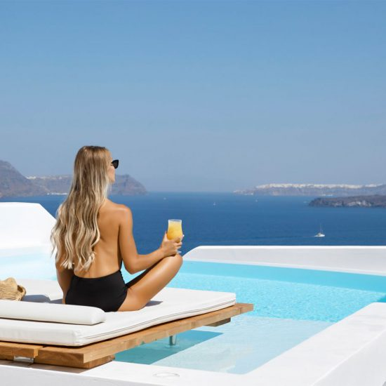 santorini villas caldera views