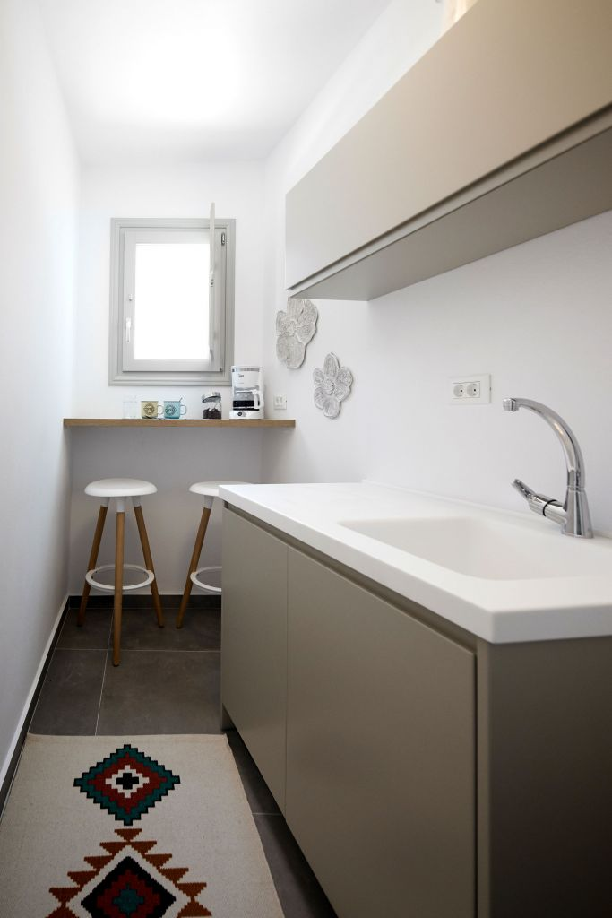 finikia luxury cave house kitchen