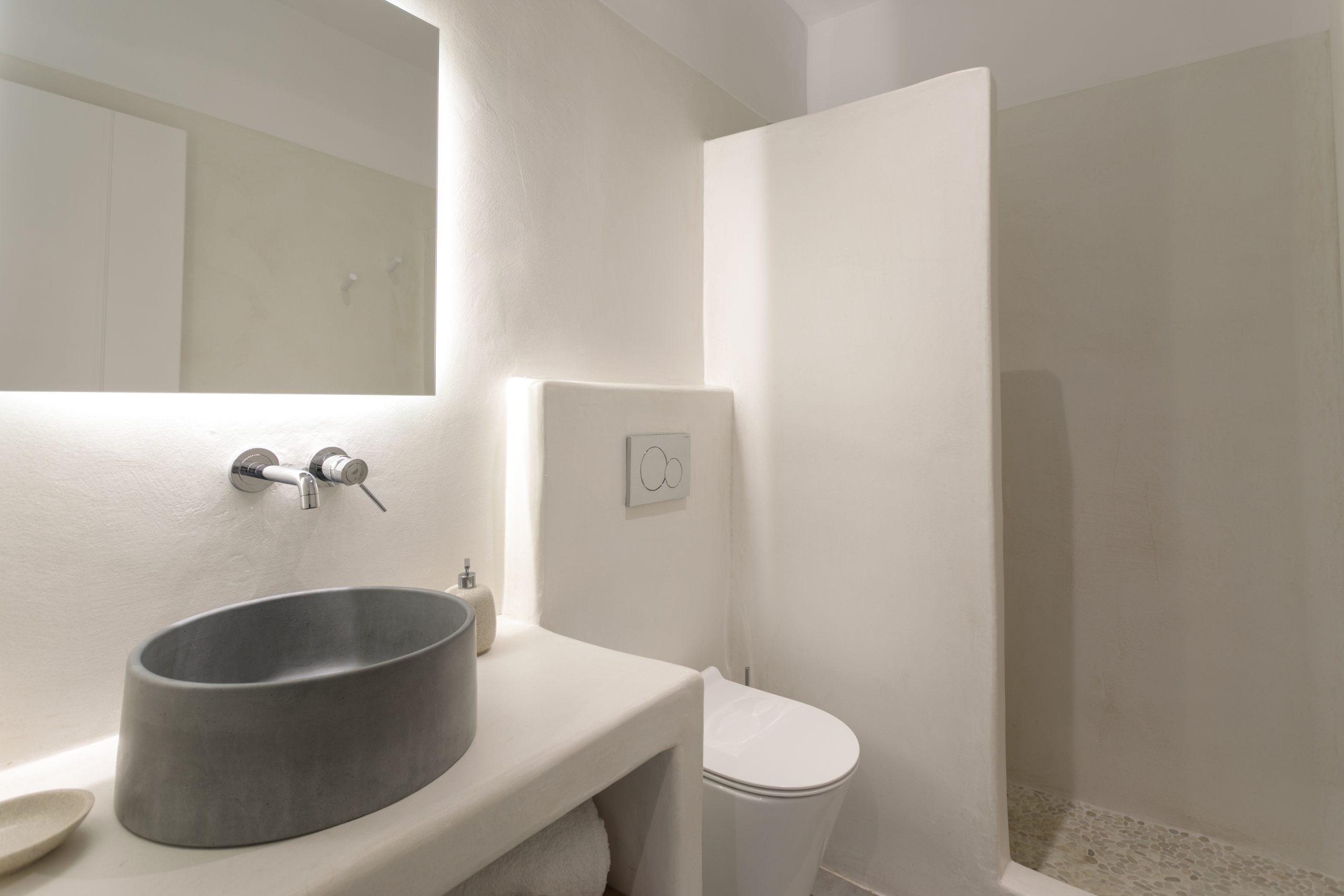 naxos villas shower