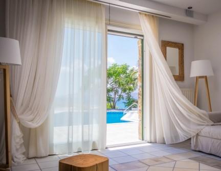 naxos luxury beach villas bedroom