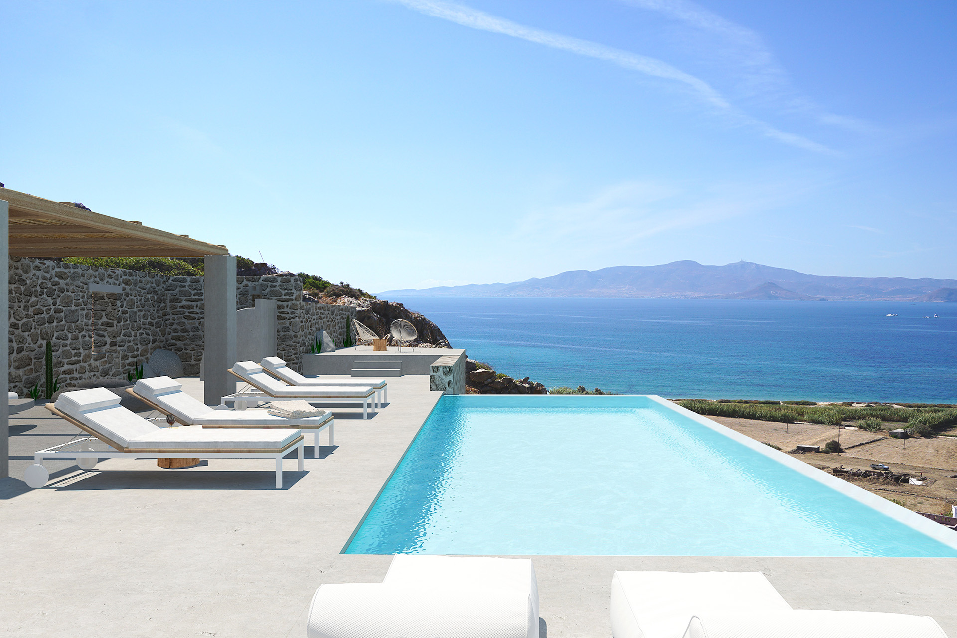 naxos 3 bedroom villas