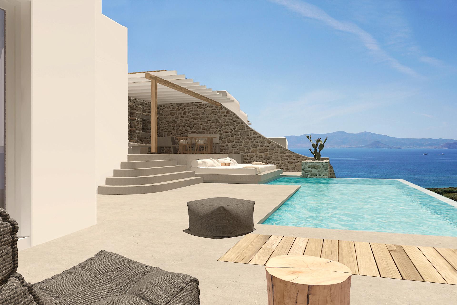 naxos villa private pool views