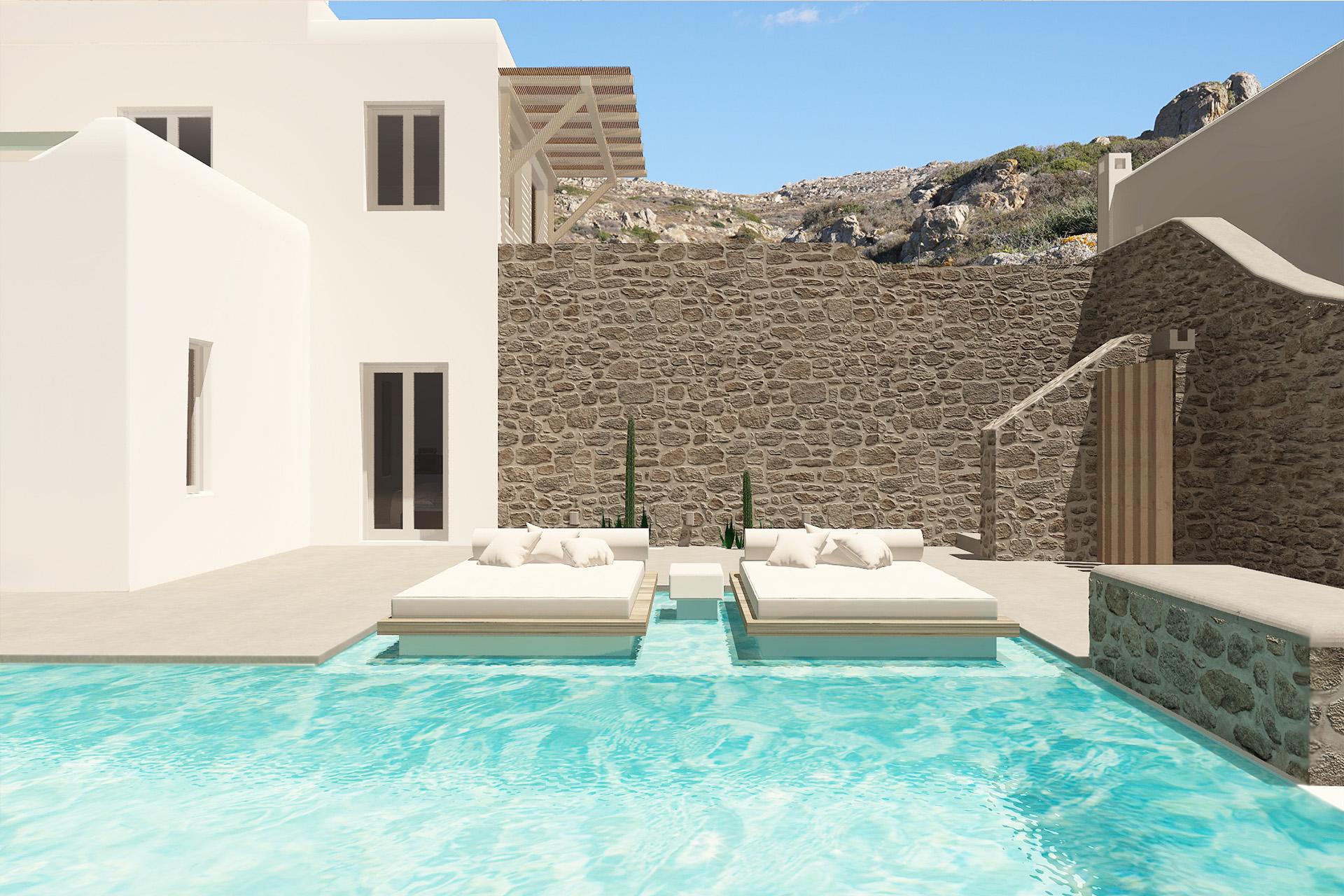 villas naxos private pools