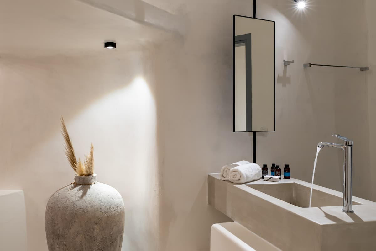 exo gonia villa santorini bathroom