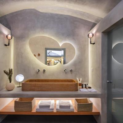 cave suites pyrgos santorini bathroom