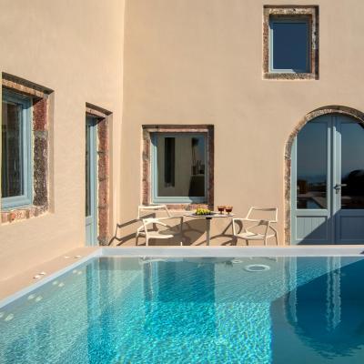 santorini villas private pools