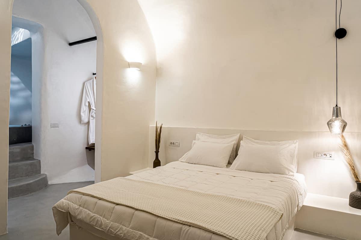 exo gonia villa santorini bedroom