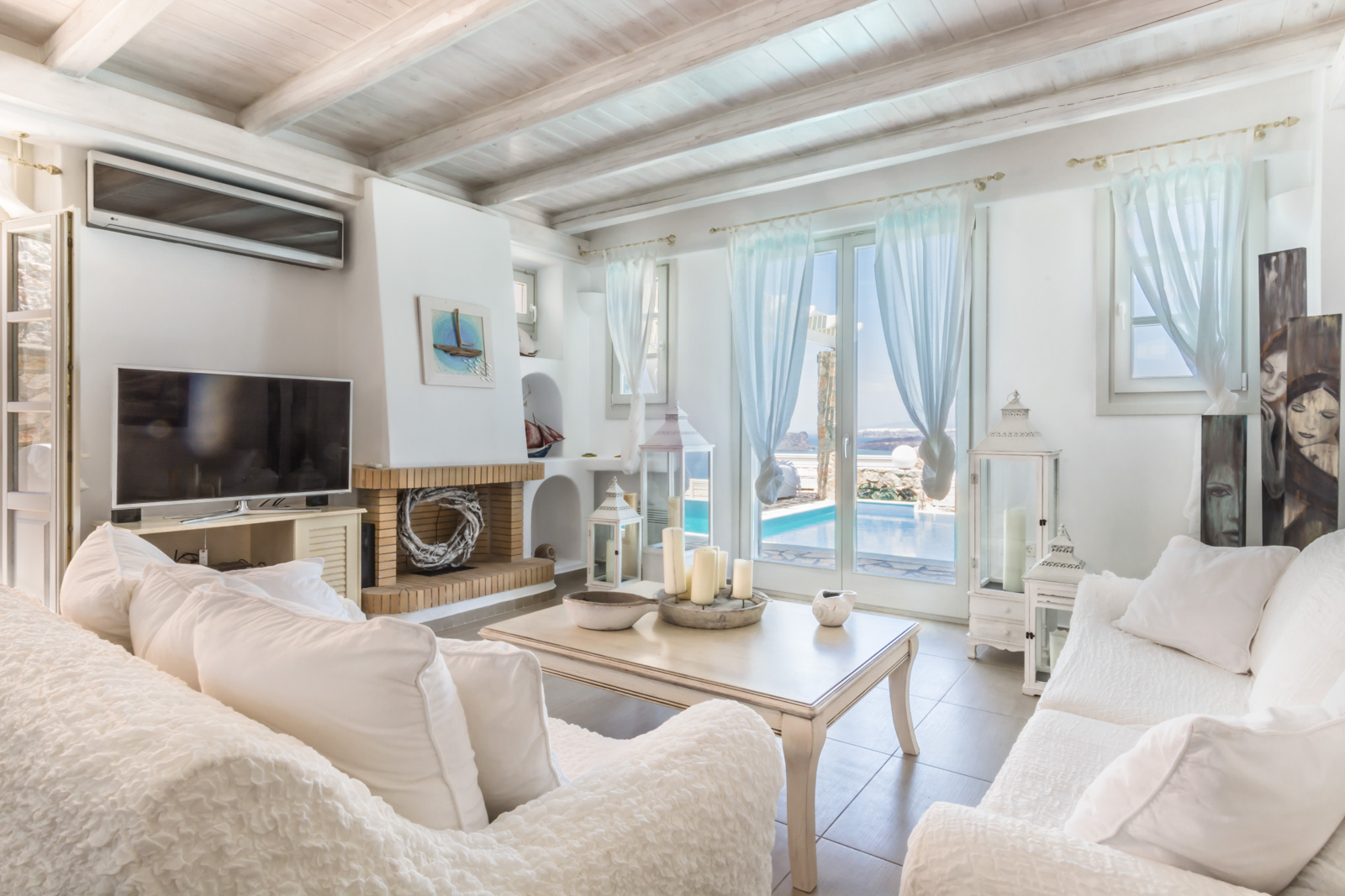 santorini villas 5 bedrooms lounge