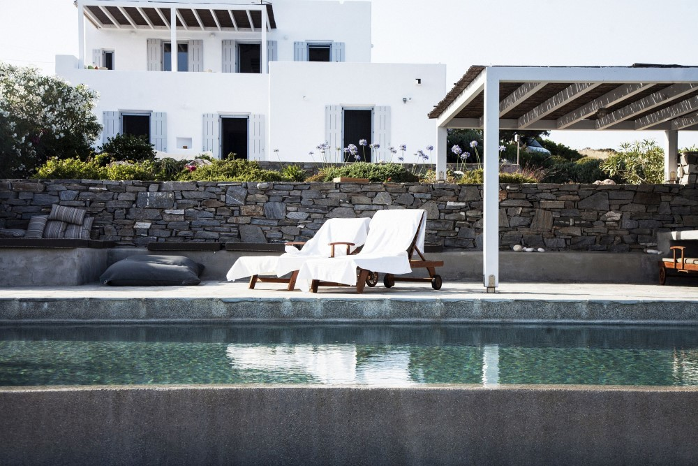 paros villa private pool