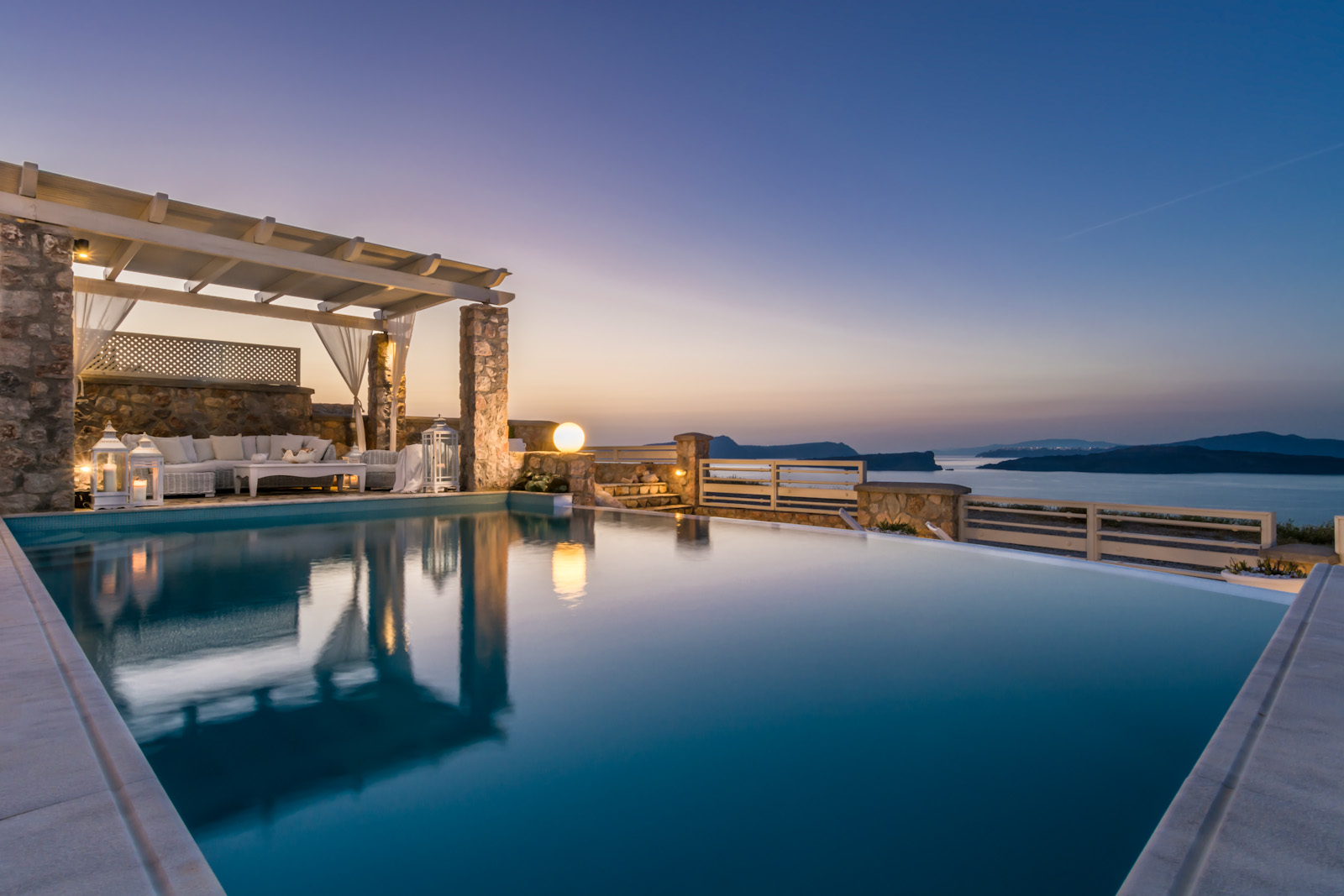santorini villas 5 bedrooms sunset