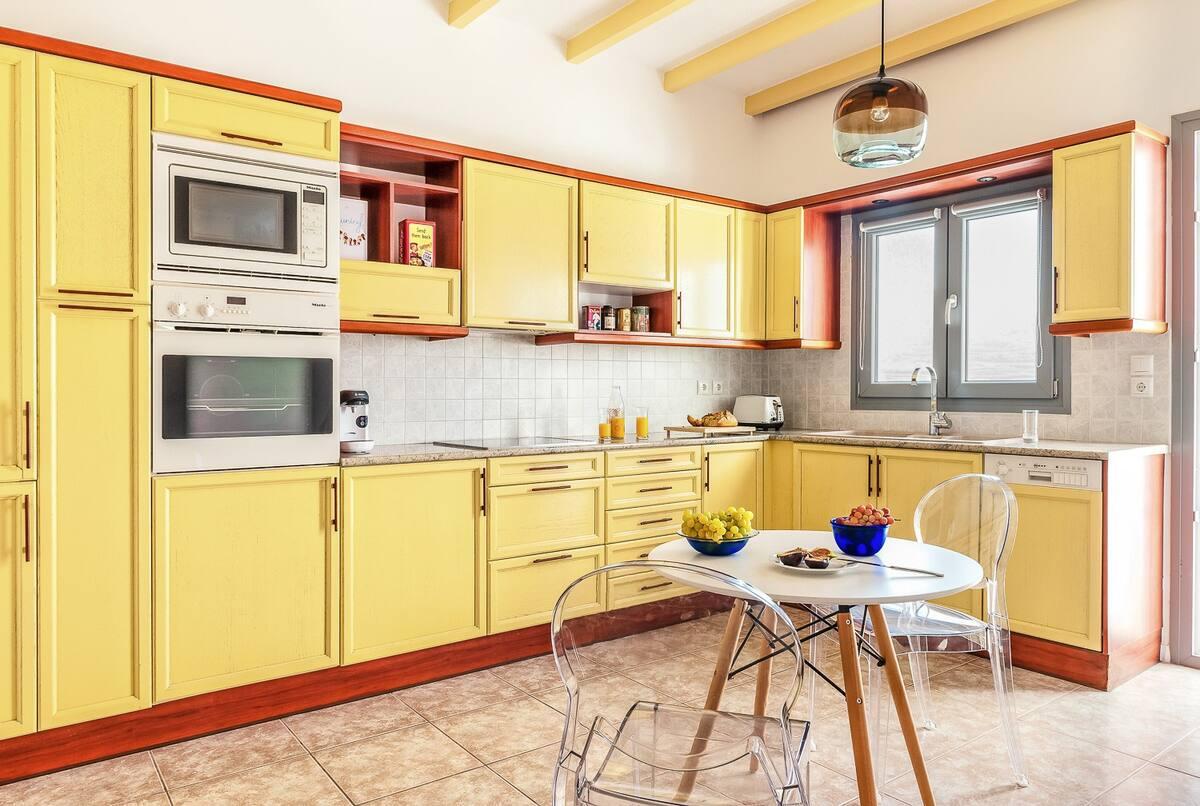 pyrgos private estate kitchen