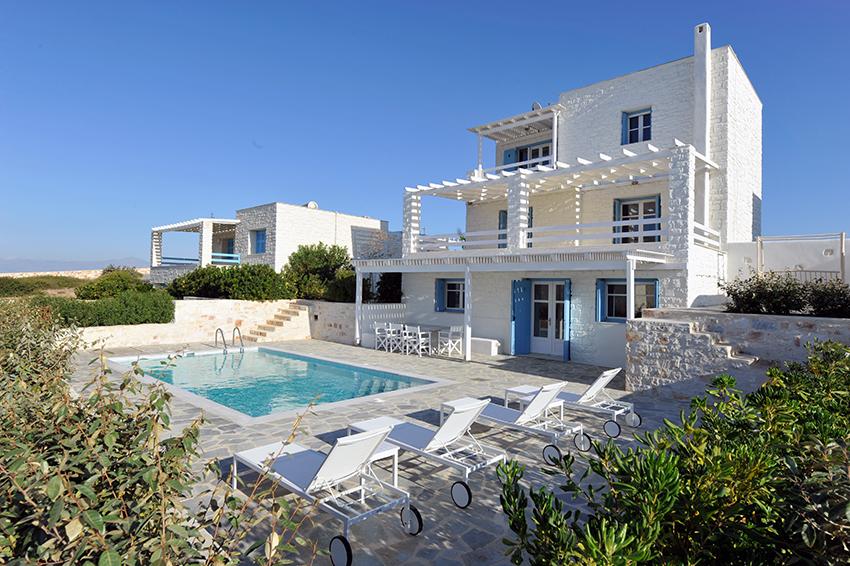 paros villas private pools