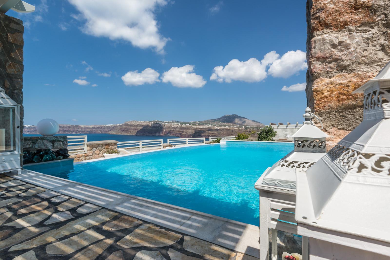 santorini villas 5 bedrooms private pool