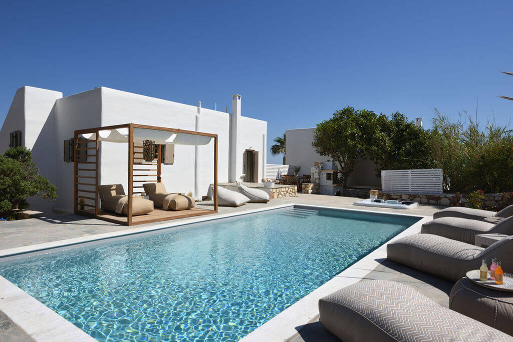 pools paros villas