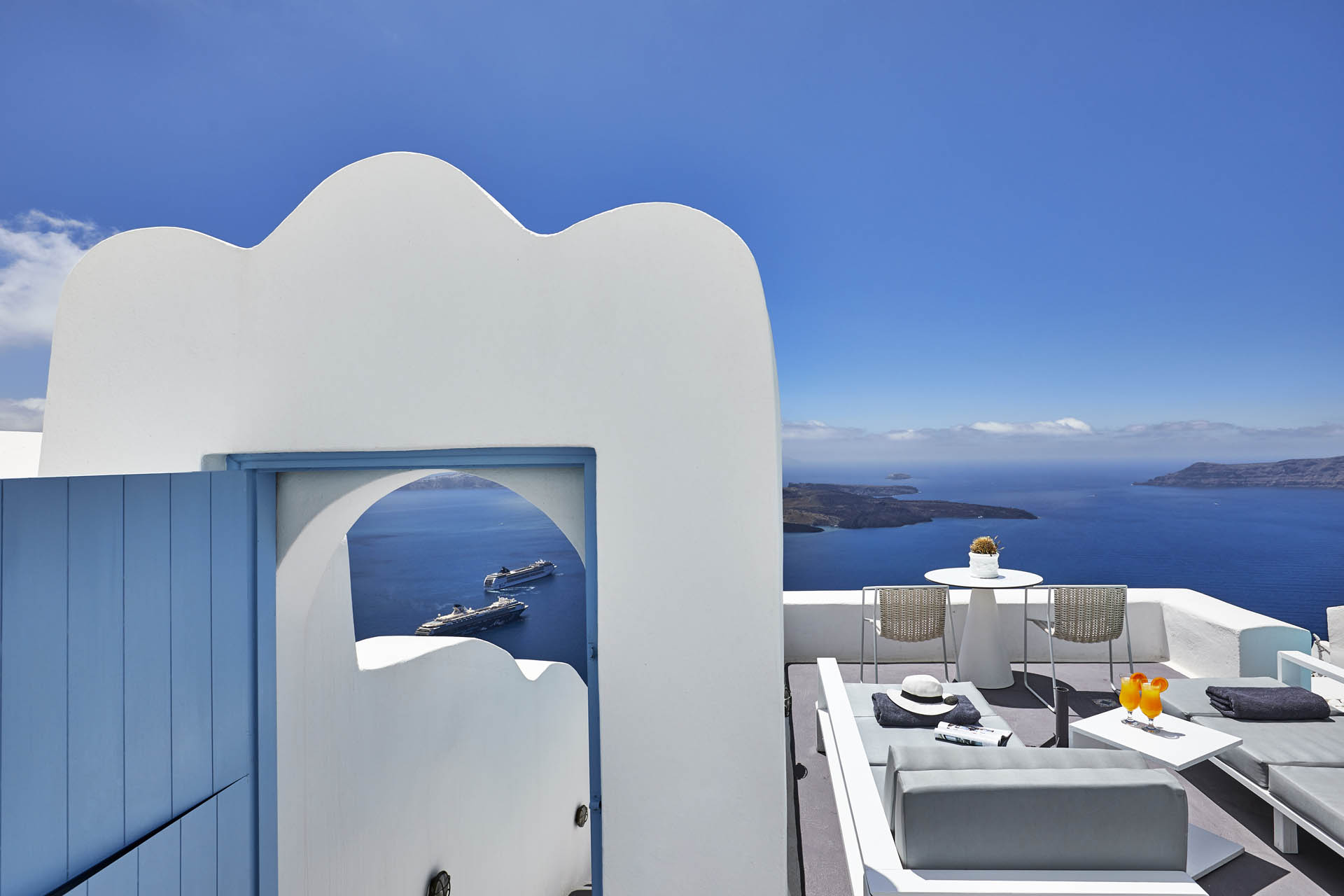santorini villas pool