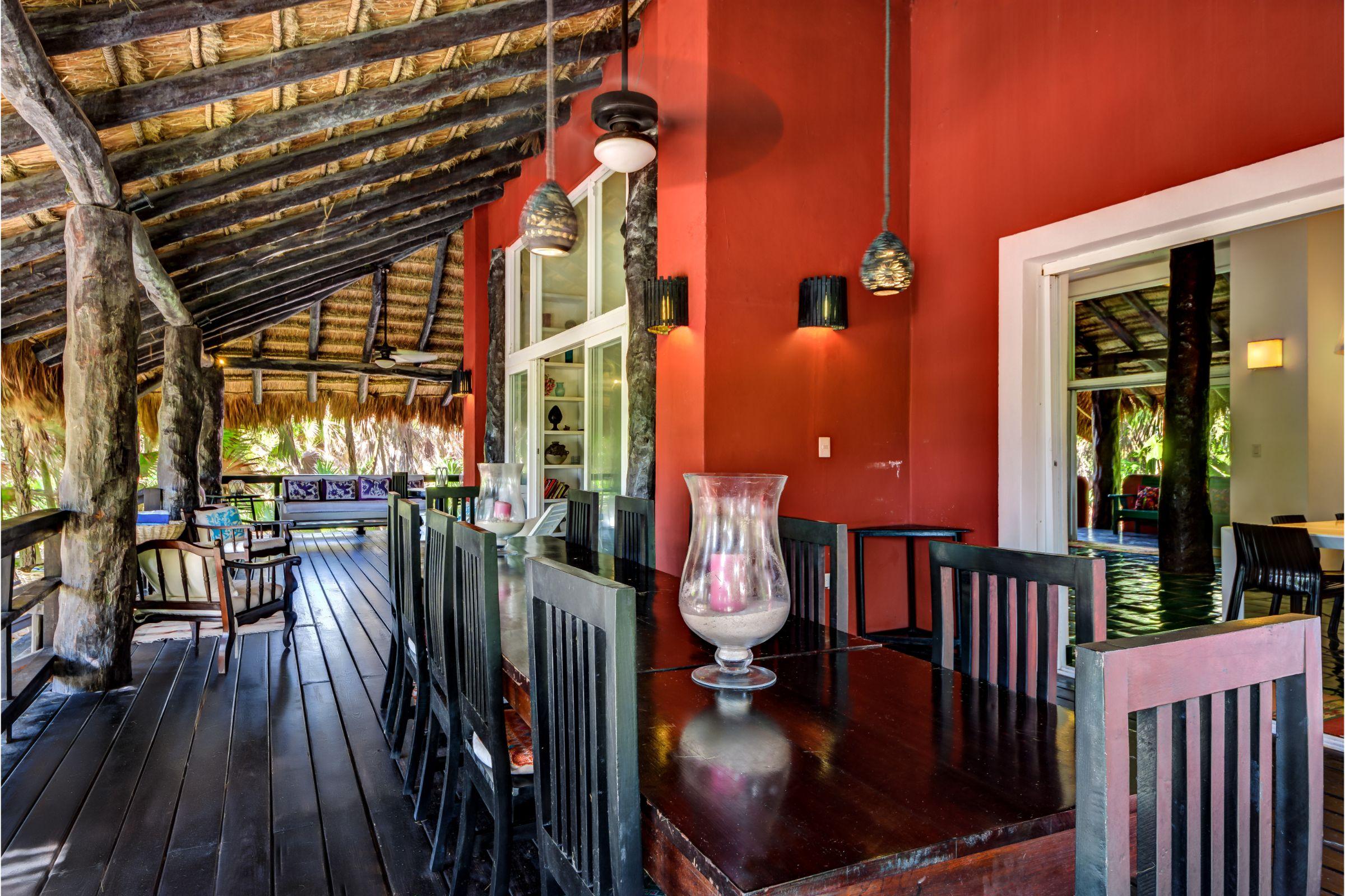 terrace dining Milagro Tulum villa