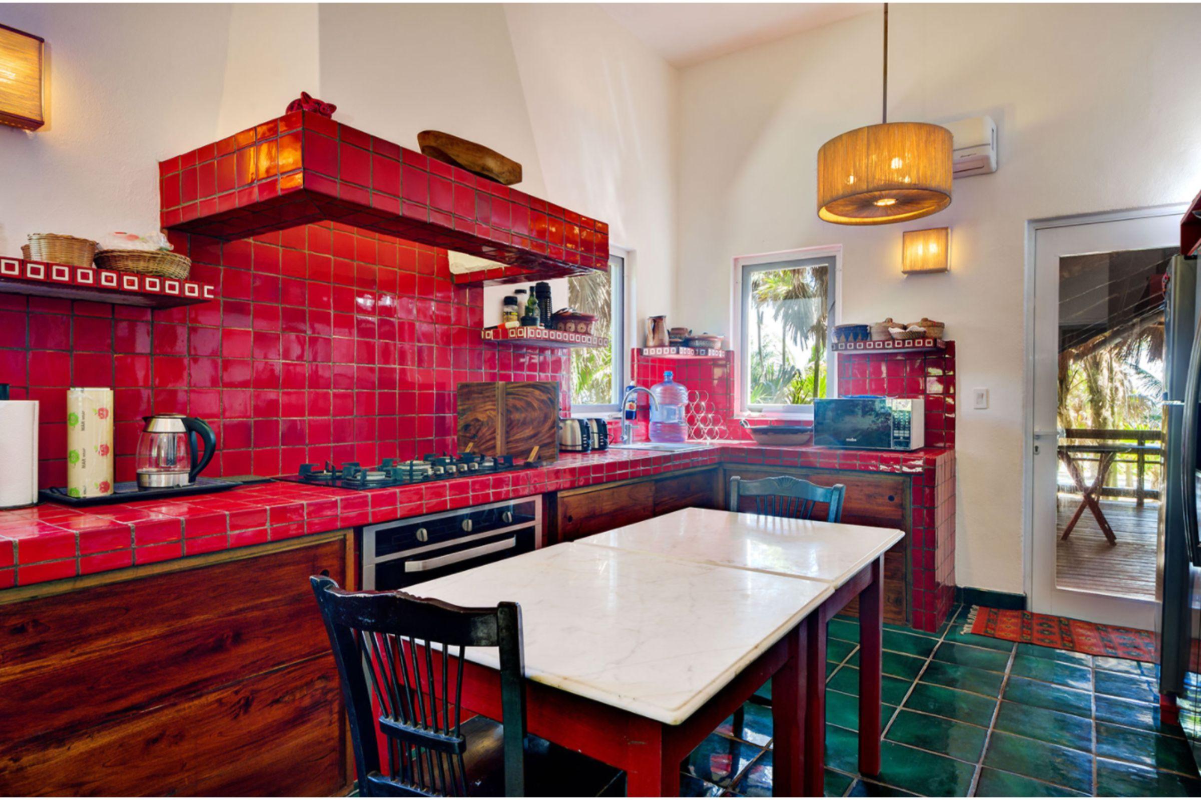 Milagro Tulum villa kitchen