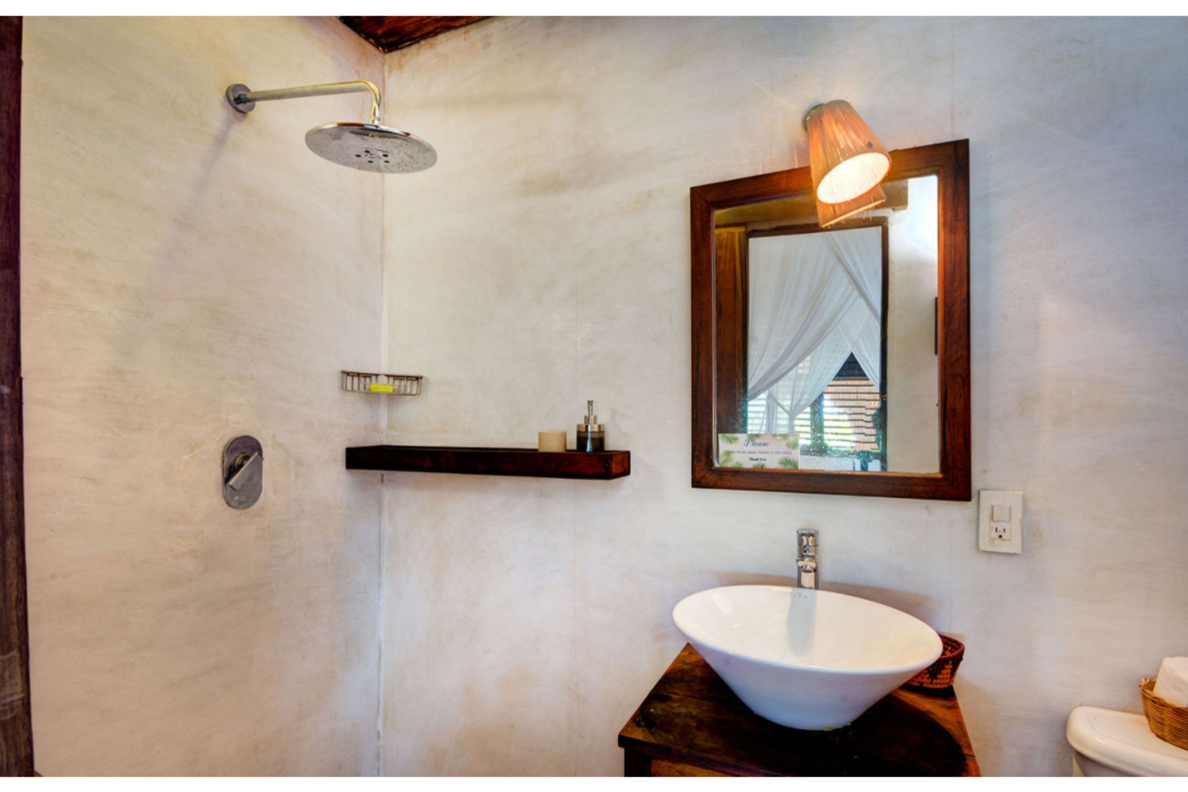 Milagro Tulum villa shower