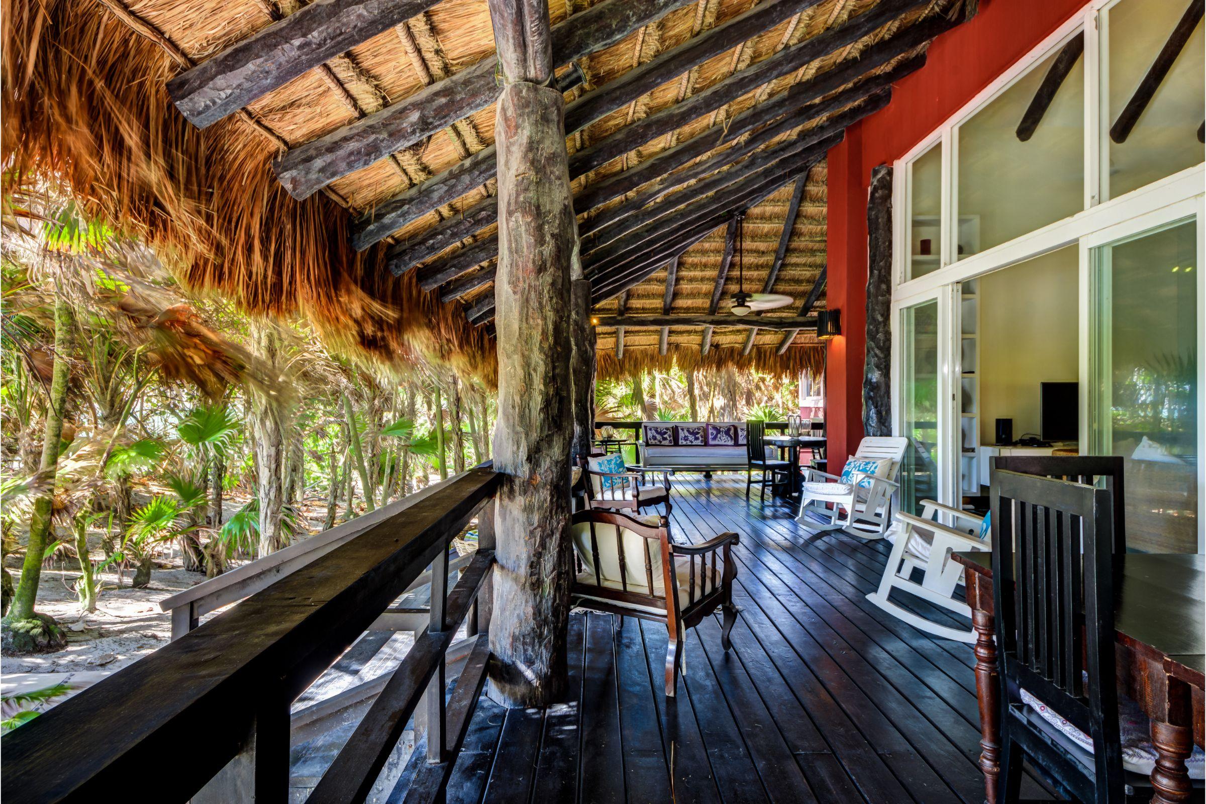 terrace Milagro Tulum villa