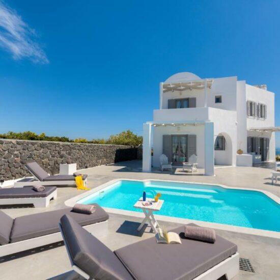 santorini luxury villa private pool